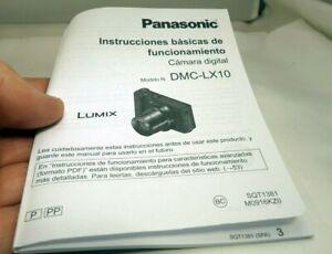 PANASONIC Instrucciones Basicas Funcionamiento Cámara Digital DMC-LX10 Español