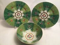 Vintage Chinese Japanese Plate Bowl Decorated With Fruit And Butterflies