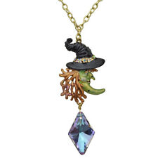 NEW KIRKS FOLLY WITCHY POO NECKLACE GOLDTONE ~~  HALLOWEEN WITCH