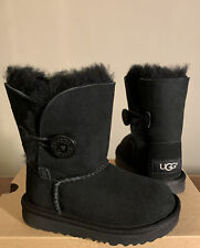 UGG TODDLER BAILEY BUTTON II BOOTS 1017400T BLACK SIZE 11, BRAND NEW, AUTHENTIC