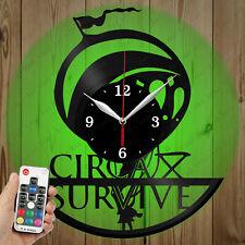 LED Vinyl Clock Circa Survive LED Wall Art Decor Clock Original Gift 2937