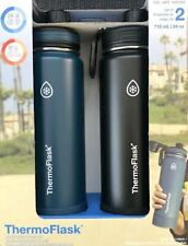 Thermo Flask 24oz Stainless Steel Double Insulated Water Bottles -2 Pack