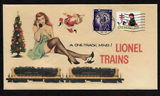 Lionel Trains 2349 Northern Pacific & Pin Up Girl on Collector's Envelope XS254
