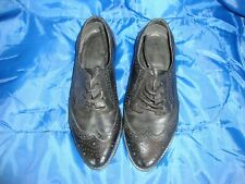 Asos Black Leather Brogue Lace Up Shoes Size 3 *Item being sold for Charity*