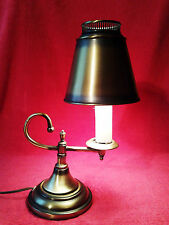 Metal Brass Colored Architect Bankers Piano Table Desk Lamp with Metal Shade