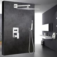 12 '' Rainshower Duschkopf Duschset Duscharmatur Chrom Unterputz Duschsystem
