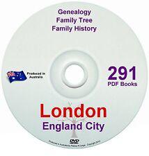 Family History Tree Genealogy London England Britain 291 historic books 2 DVDs