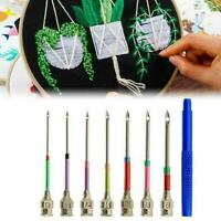 Punch Needle Embroidery Pin Knitting Needles with 3 Needles Crochet Tool KV