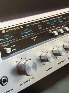 Kenwood KR5600 Receiver Original Vintage Color Brochure Must Have For Collectors