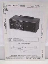 Sams Photofact Folder Parts Manual Bulova 240 242 247 AM FM Receiver Clock Radio
