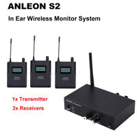 UHF Stereo Monitor System S2 6CH Receiver Headphones 1 Transmitter+ 3 Receivers