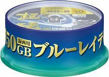 TDK Blu Ray Discs 50 GB BD-R DL 4x Speed High Grade Bluray Dual Layer 10 PACK