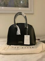 Ted Baker Dome Black Cross Body Bag Leather Shoulder Handbag Kaitee