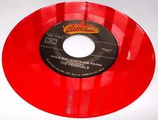 The Federals While Our Hearts Are Young 1957 45rpm Red Vinyl Reissue Unplayed NM