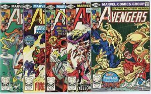 Avengers #203 - 209, 211 - 222, Annual 9  avg. NM 9.4  Marvel  1981  No Reserve