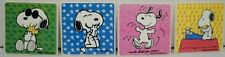 """Four Sandylion 2.5"""" Square Peanuts Snoopy Stickers"""
