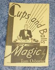 Cups And Balls (Tom Osborne, 1973 printing, Lee Grey publ.) -Tmgs Book-Mania
