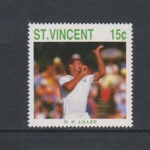 St Vincent - 1988, Cricketer, D K Lillee stamp - MNH - SG 1144