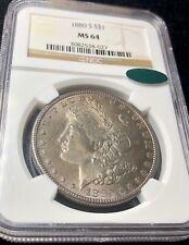 1880-S Morgan Silver Dollar $1 NGC MS64 CAC Dark Toning