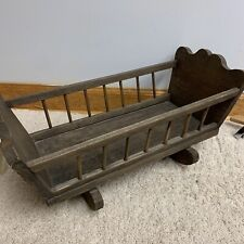 Vintage  Baby doll Wooden Cradle
