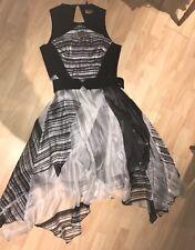 Stunning New COAST Ladies sz 16-18 McKee Black White Dress BNWT Wedding Party