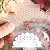 100PCS Party Bags Cello Clear Cellophane Loot Gift Bag Treat Sweet Candy Co I0K9