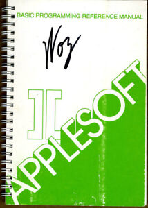 Steve Wozniak SIGNED AUTOGRAPHED The Applesoft Ref Manual Apple Computer Founder