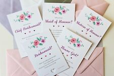 Will you be my Bridesmaid, Maid of Honour, Flower Girl Request Invitation Card