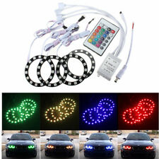 989077 5050 15SMD 70MM RGB LED HALO RING ANGEL EYES BULB CAR LIGHT WITH REMOTE
