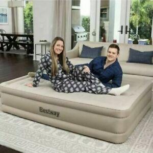 Bestway Queen Comfort Elevated Airbed with Built-In Pump - New