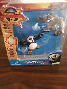 Kung Fu Panda 2 Po vs Wolf Boss Figures Mattel