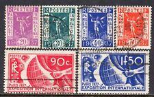 5033 - France 1936 - Paris Exhibition - Used Set