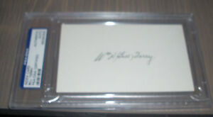 Bill Terry PSA DNA Certified slabbed index card Hall of Fame New York Giants