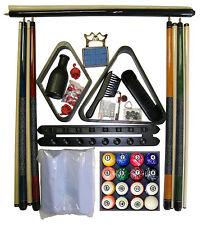 Pool - Billiard Table Accessory Kit W Classic Marble Style Ball Set Black Finish