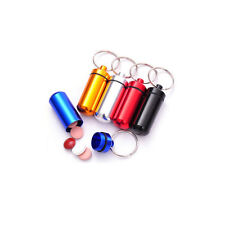 Aluminum Nitro Glycerin, Pill Case  Holder Container Capsule w/ Keychain