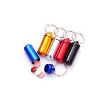 Aluminum Emergency Money Holder, Container, Capsule w/ Keychain