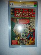AVENGERS # 1 MARVEL CGC SIGNATURE STAN LEE HULK THOR IRON MAN MOVIE