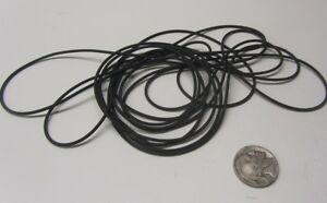 "Latex Rubber Rod, Black, 1/16"" Dia x 10 Ft Length, 3 Units"
