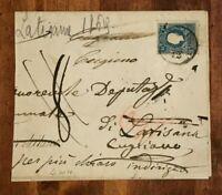 RARE 1860' AUSTRIA Lombardy & Venetia Cover 15s Stamp HIGH CV