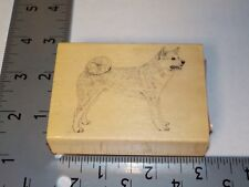STAMP GALLERY AKITA DOG RUBBER STAMP EUC USED A6087