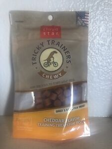 Cloud Star Chewy Tricky Trainers Grain Free Cheddar Flavor Dog Treats 5 Ounces