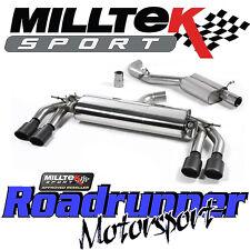 "MILLTEK AUDI TTS MK3 2.0 TFSI QUATTRO 3"" Sistema Di Scarico Cat Indietro Porta Nero"