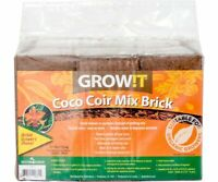 Grow!t Organic Coco Coir Mix Brick Root Growth Flowers Vegetables Herbs Block