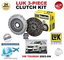 FÜR VW TOURAN 1T1 1T2 1T3 1.9 2.0 TDi + 16V AB 2003 KUPPLUNGSSATZ LUK 3-tlg.