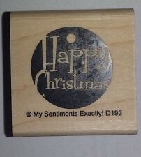 NEW MSE! My Sentiments Exactly! Mounted Wood Rubber Stamp D192 Happy Tag
