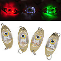 2x LED Tief Tropfen Unterwasser Auge Form Fischen Fisch köder Licht Blinken X8C7