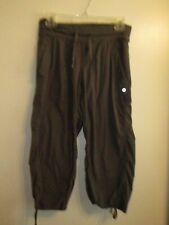 Lululemon Athletica 4/6 Gray Studio Dance Pants Drawstring Unlined Yoga Cropped