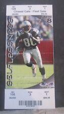 NFL- N.E.PATRIOTS VS. BUFFALO BILLS-12/27/2003-FULL TICKET- BRADY'S 37TH WIN