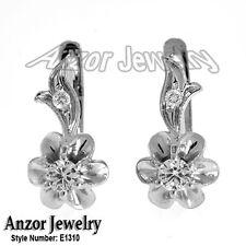Russian Style Earrings Genuine Diamond .34 ct.t.w. in14k Rose & White Gold 585