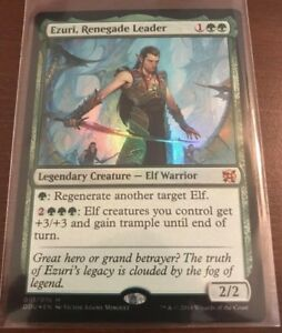 Magic the Gathering FOIL EZURI, RENEGADE LEADER MTG Duel Deck Elves vs Inventors